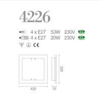 PLAFONIERE SILVEN LIGHT 4226