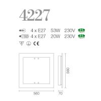 PLAFONIERE SILVEN LIGHT 4227