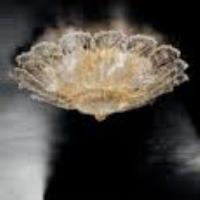 PLAFONIERE: SYLCOM SRL 1124/80 D CRI ORO